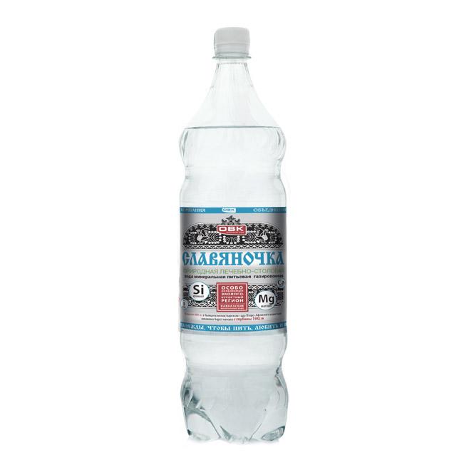 Фото - Вода минеральная Славяночка газированная 1 л минеральная вода zagori газированная стекло 0 75 л