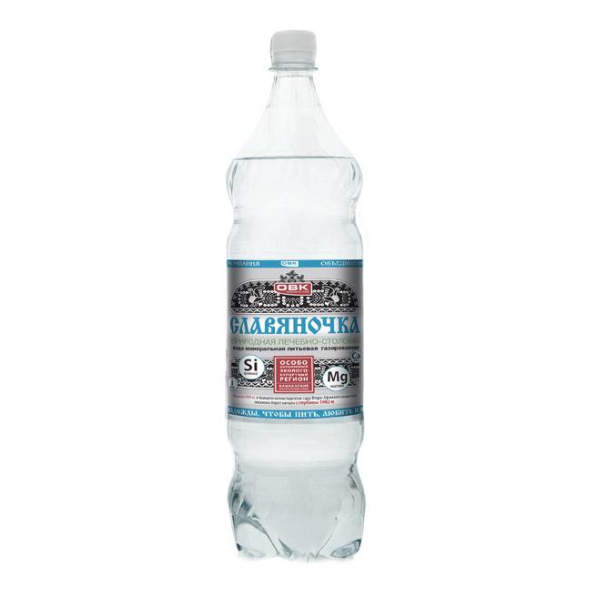 Вода минеральная Славяночка газированная 1,5 л
