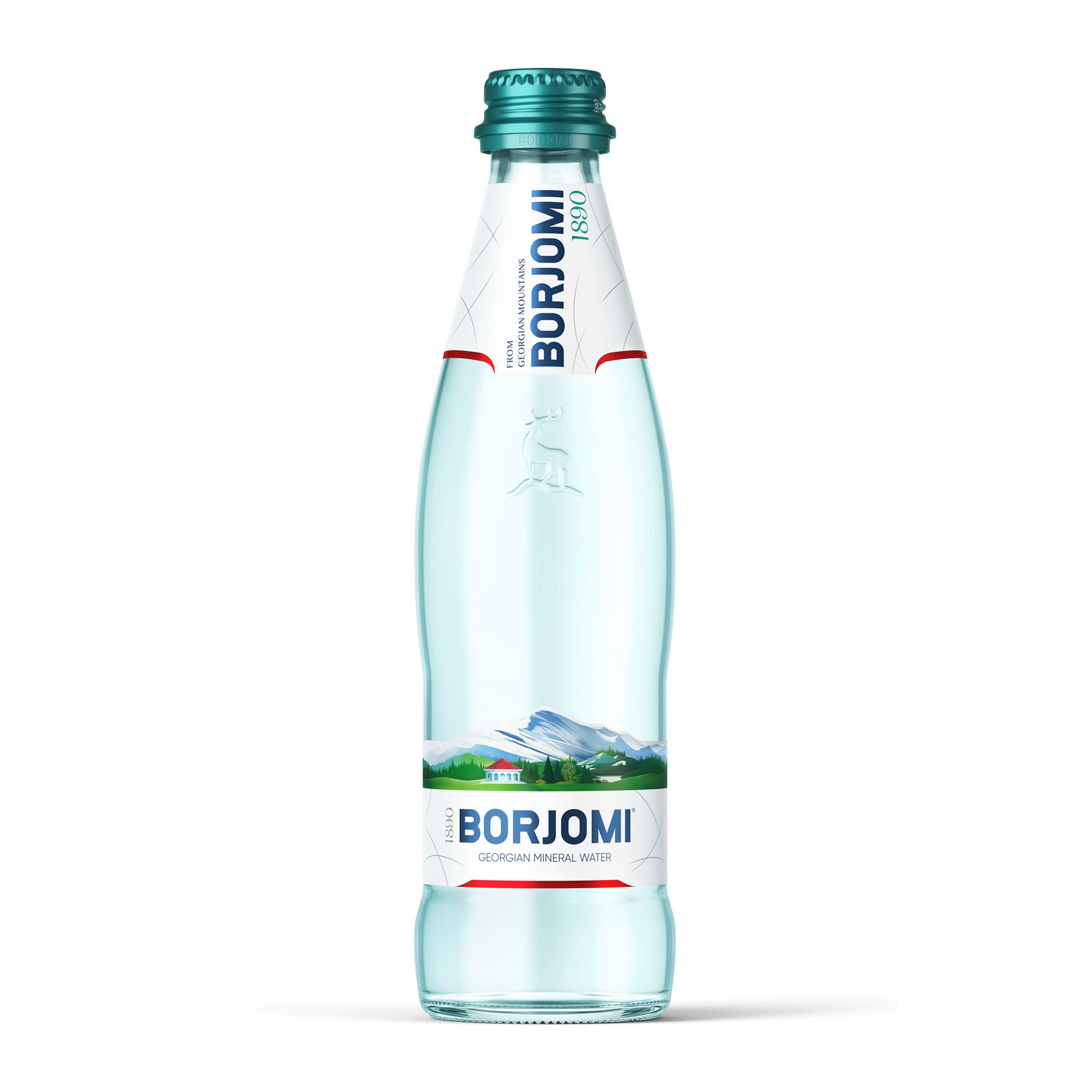 Вода минеральная Borjomi газированная 0,33 л