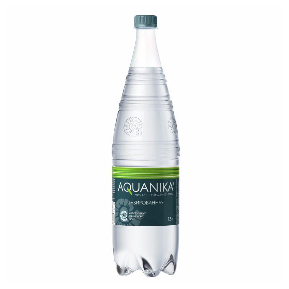 Фото - Вода минеральная Акваника газированная 1,5 л морс акваника из клюквы малины и земляники 6 шт по 1 л