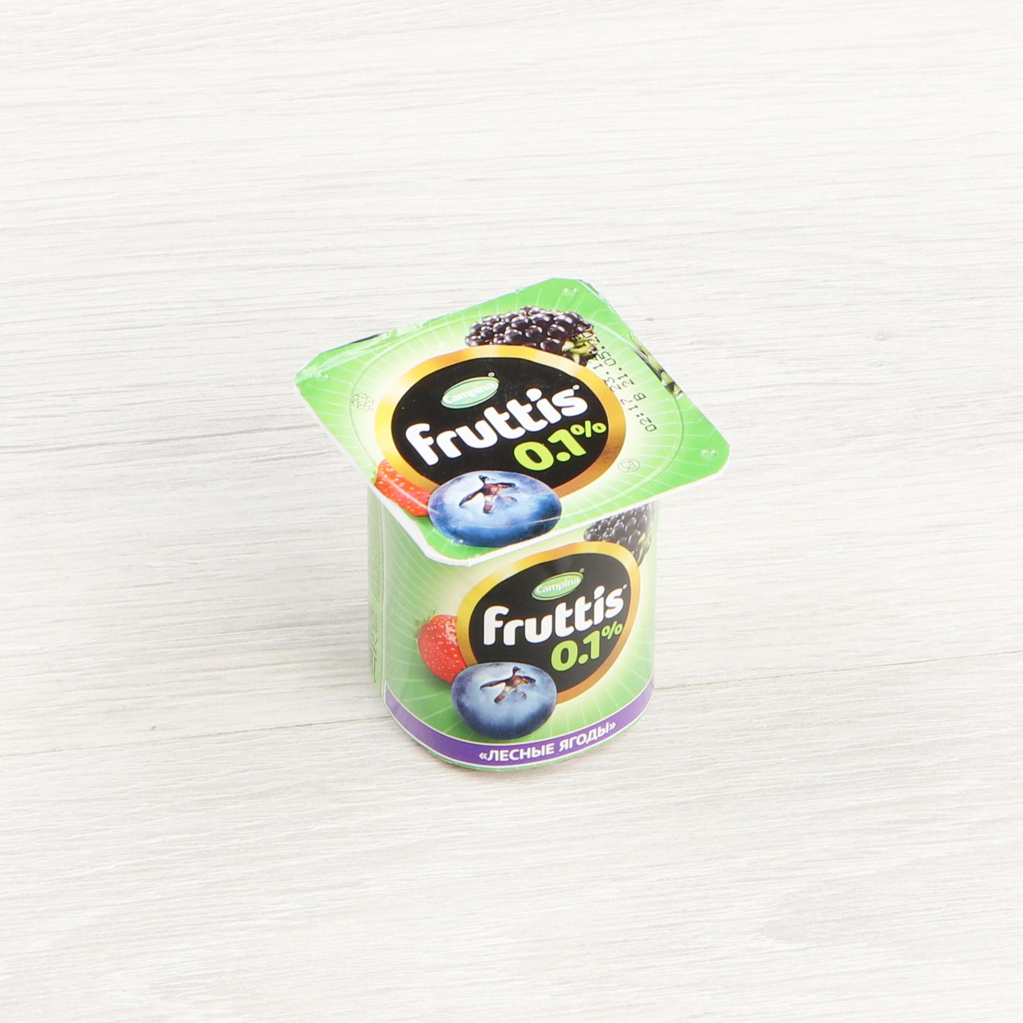 Фото - Йогурт Campina Fruttis Легкий Лесные ягоды, ананас, дыня 0,1% 110 г йогурт campina fruttis легкий клубника 0 1% 110 г