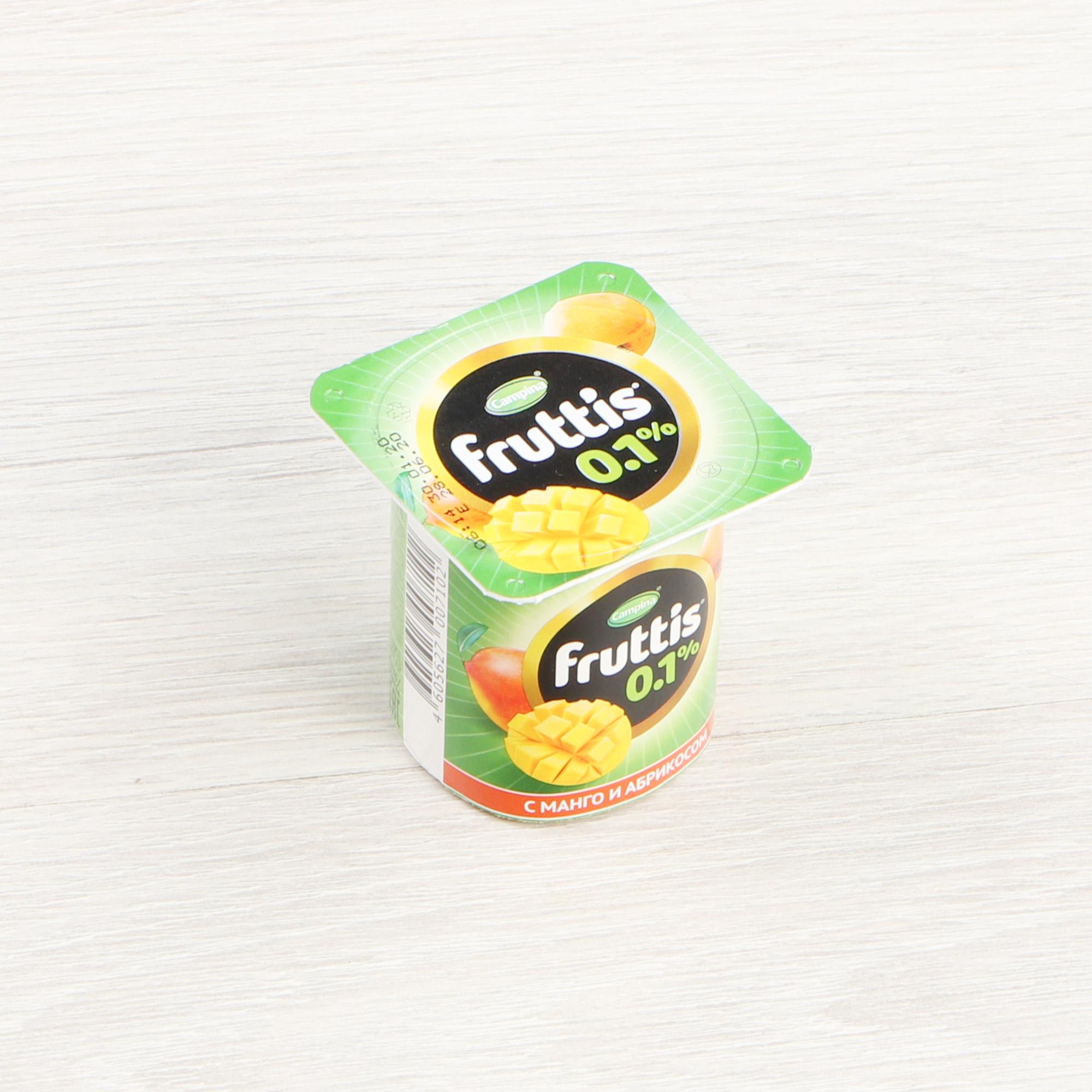 Фото - Йогурт Campina Fruttis Легкий Абрикос, манго, яблоко, груша 0,1% 110 г йогурт campina fruttis легкий клубника 0 1% 110 г