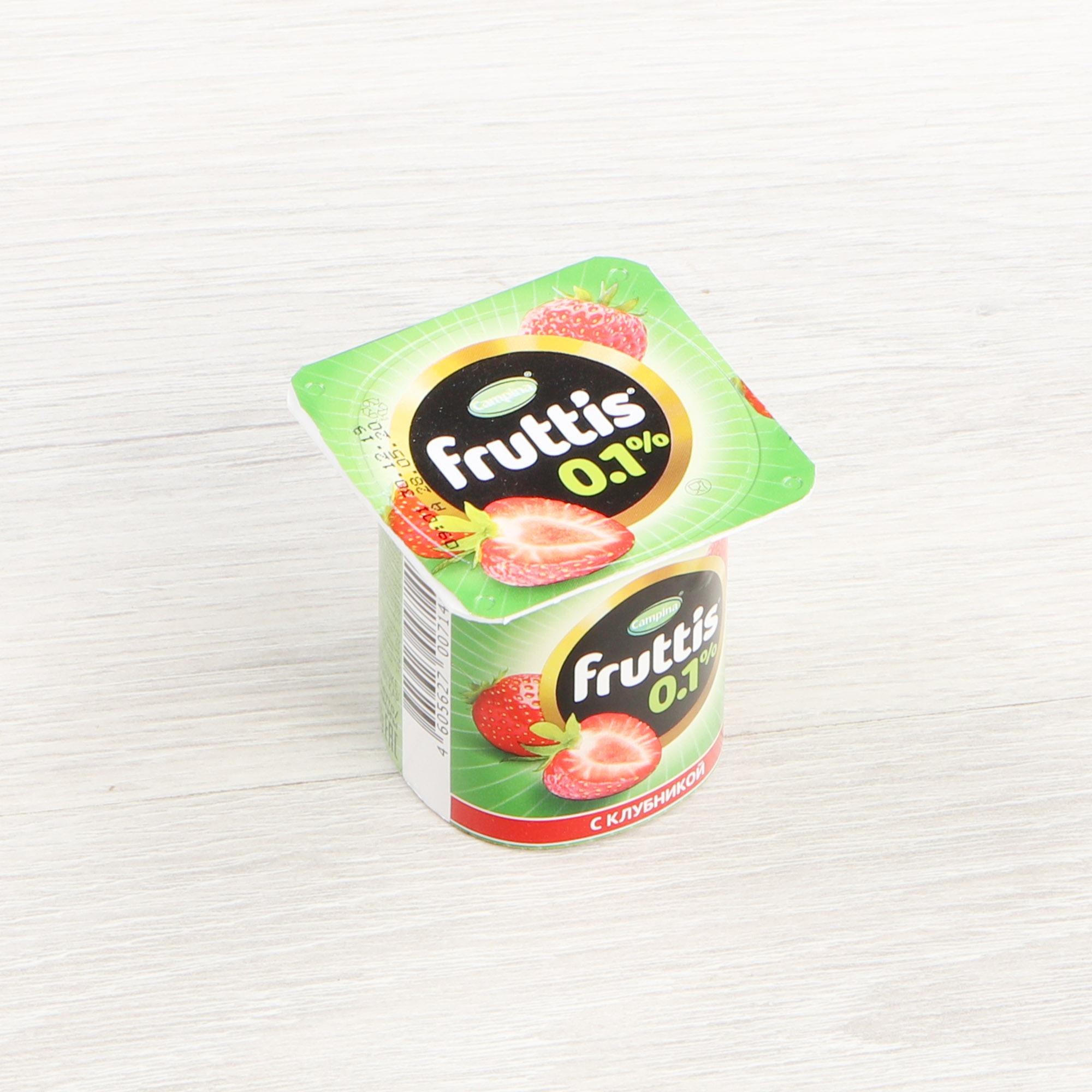 Фото - Йогурт Campina Fruttis Легкий Клубника 0,1% 110 г йогурт campina fruttis легкий клубника 0 1% 110 г
