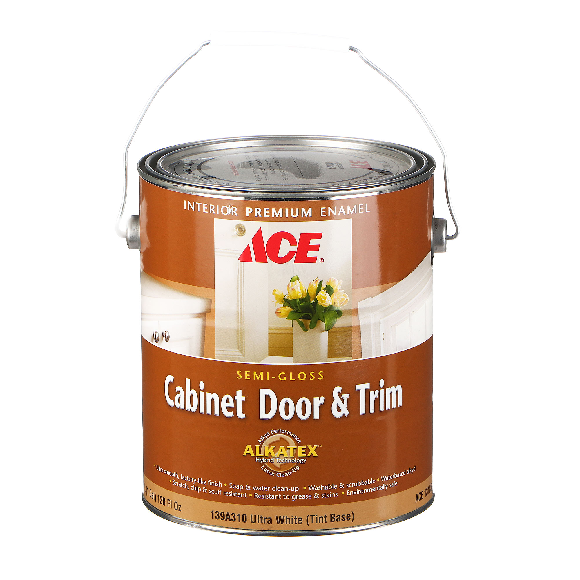 Эмаль Ace Hardware Cabinet Door & Trim Ultra White 3,78 л