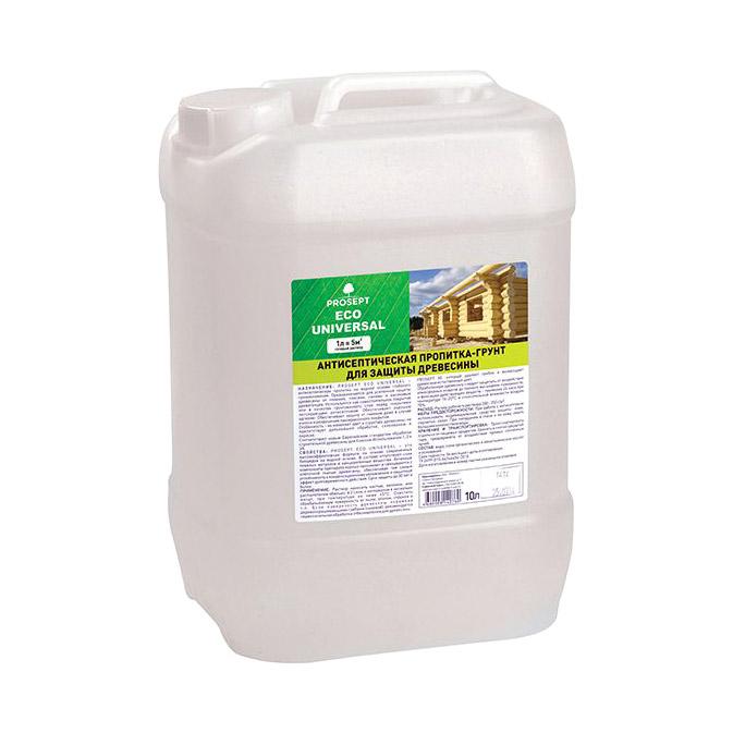 Антисептический грунт для древесины Prosept Eco Universal 10 л спрей prosept universal hard для очистки каминных стекол от сажи и копоти 0 5 л
