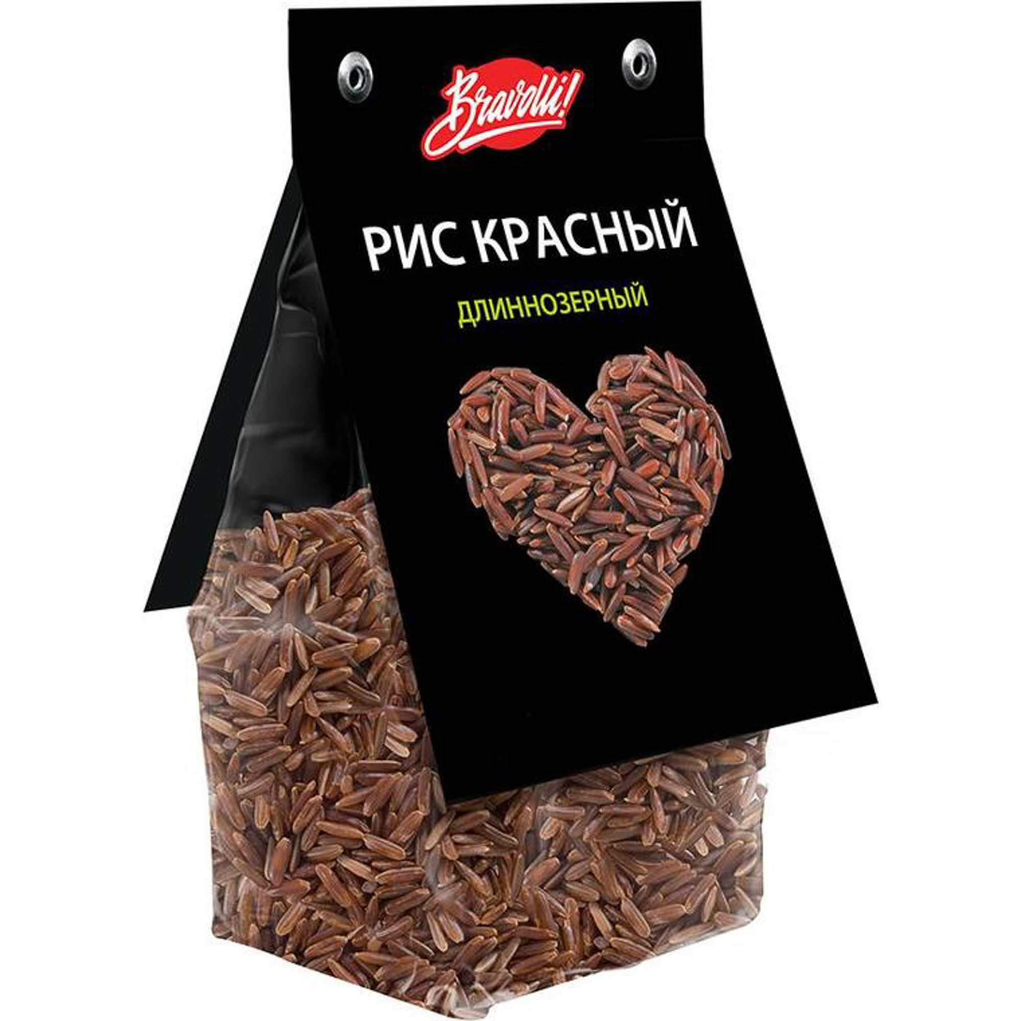 Рис Bravolli длиннозерный красный 350 г недорого