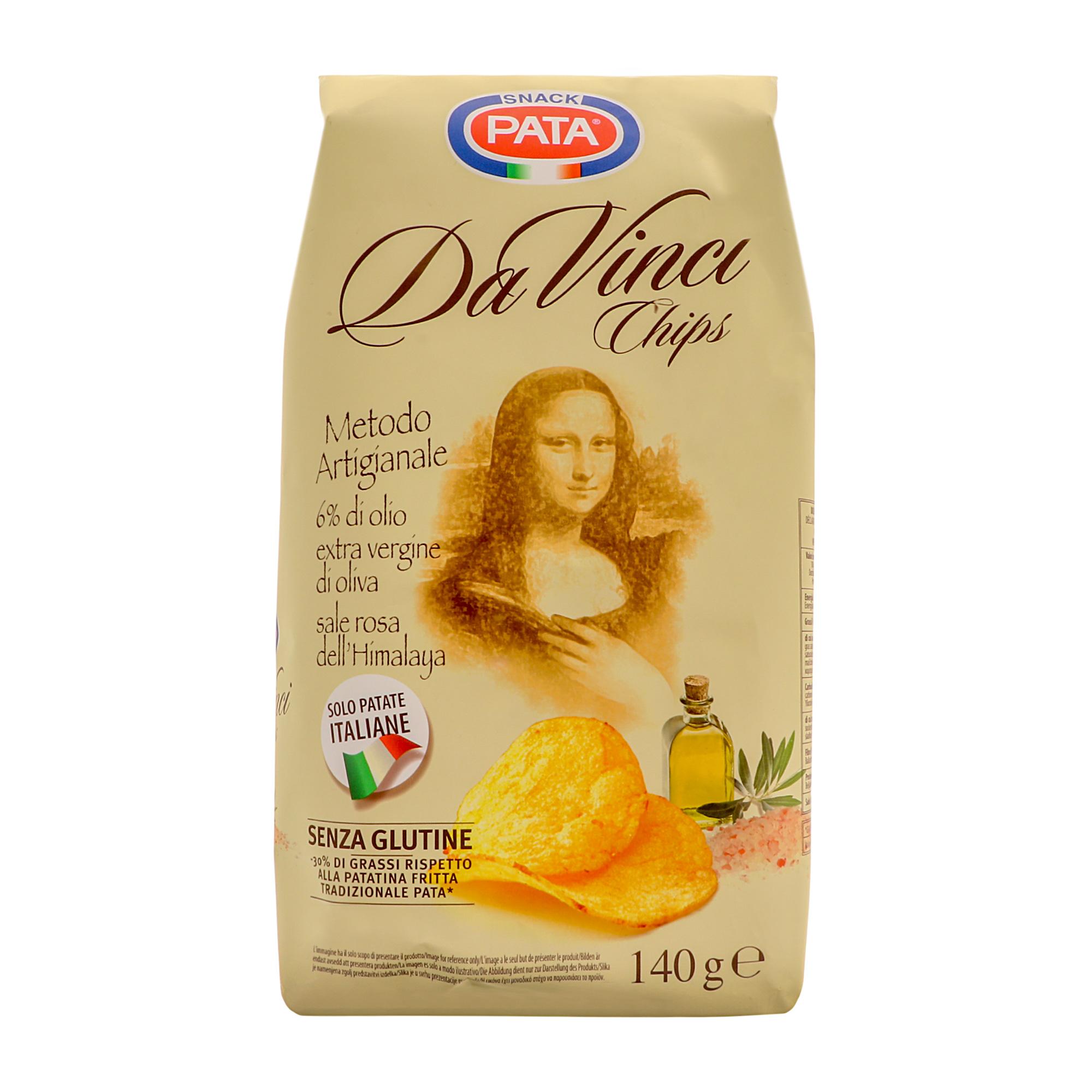 Чипсы картофельные Pata Da Vinci 140 г фото