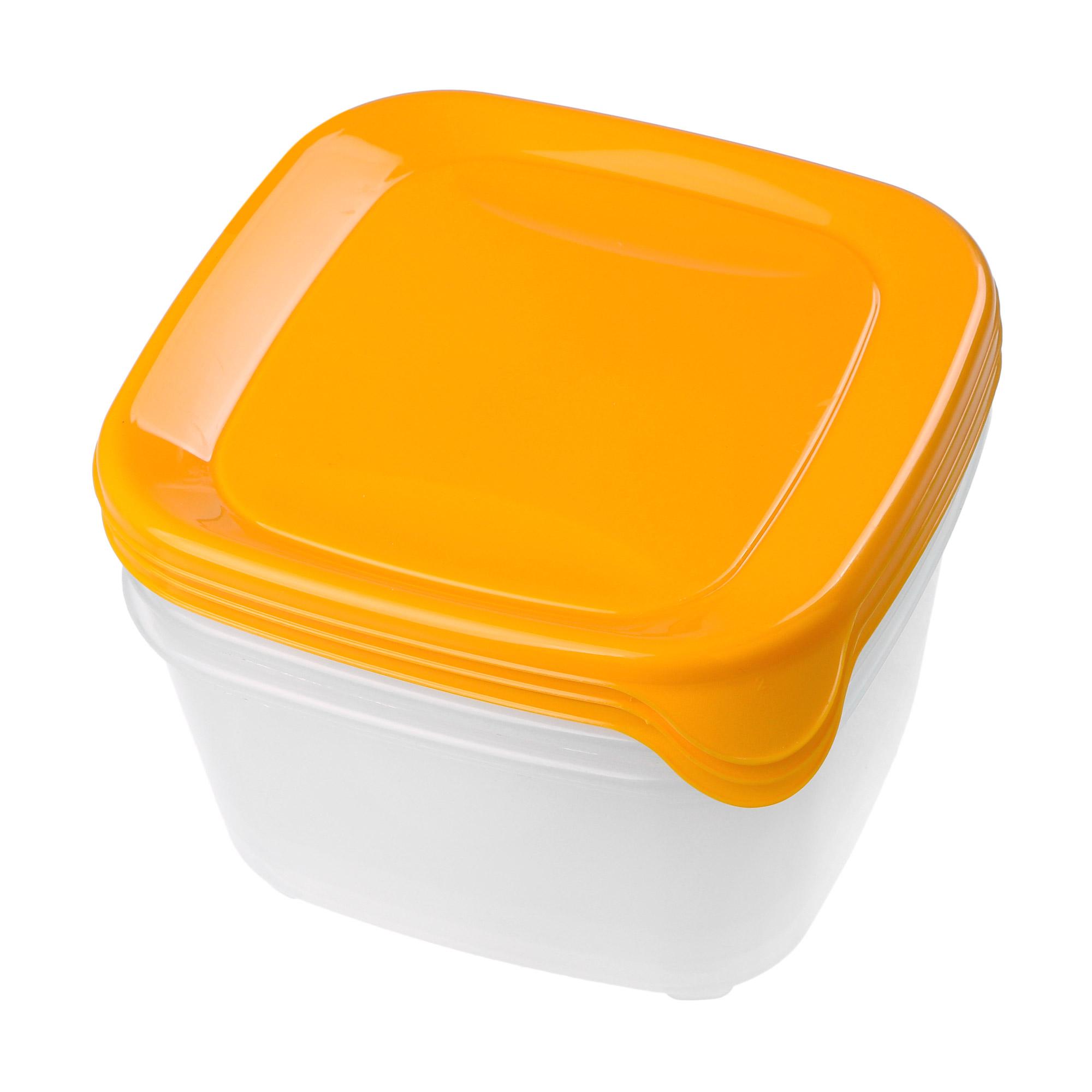 Купить Набор контейнеров для свч Curver fresh&go желтый 3шт 1, 2л, Польша, желтый, прозрачный, пластик