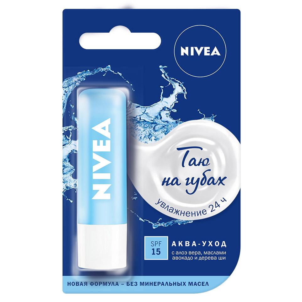 Бальзам для губ Nivea Аква-уход 4.8 г недорого
