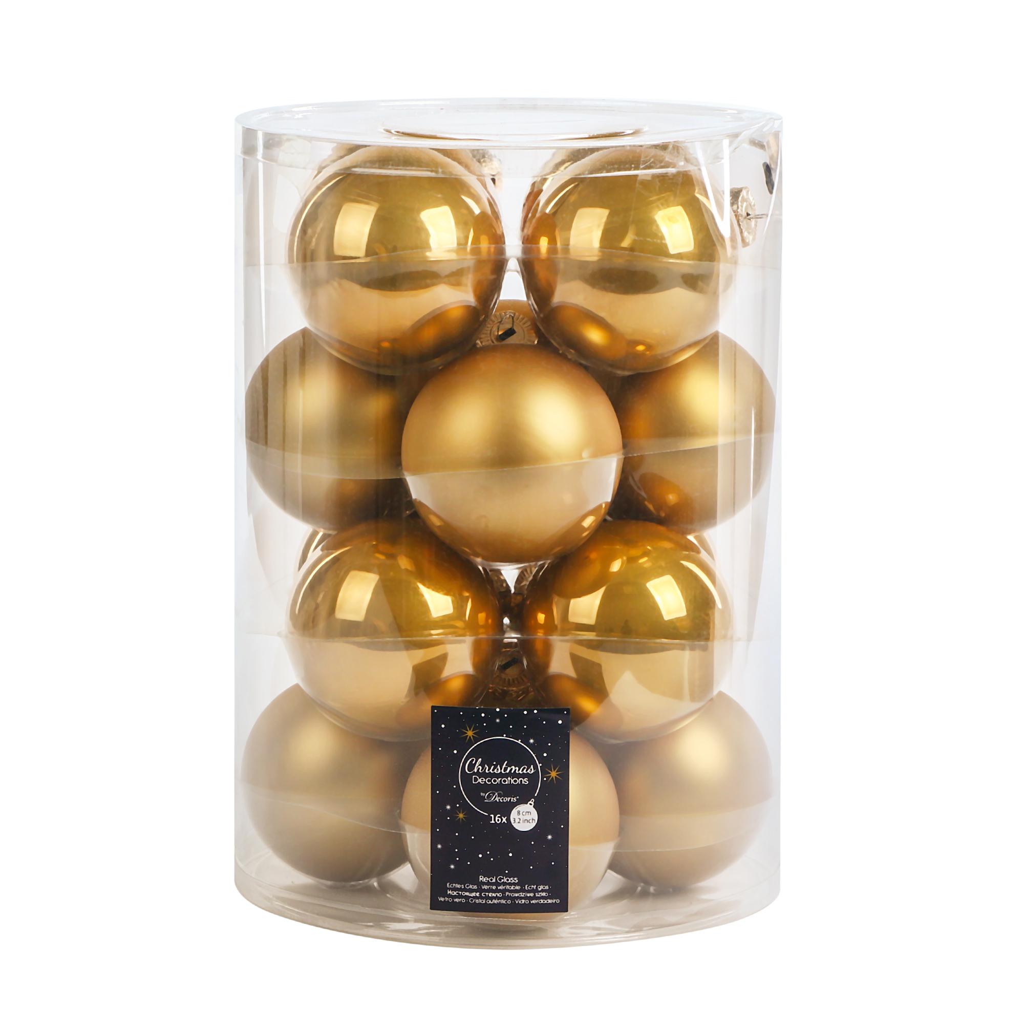 Набор шаров на елку Kaemingk 8см 16шт