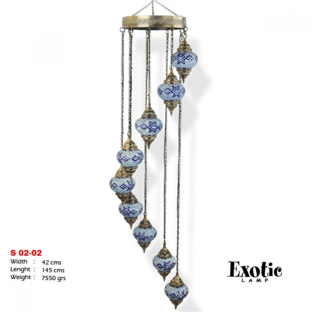 Люстра Exotic Selection S 02-02 синяя