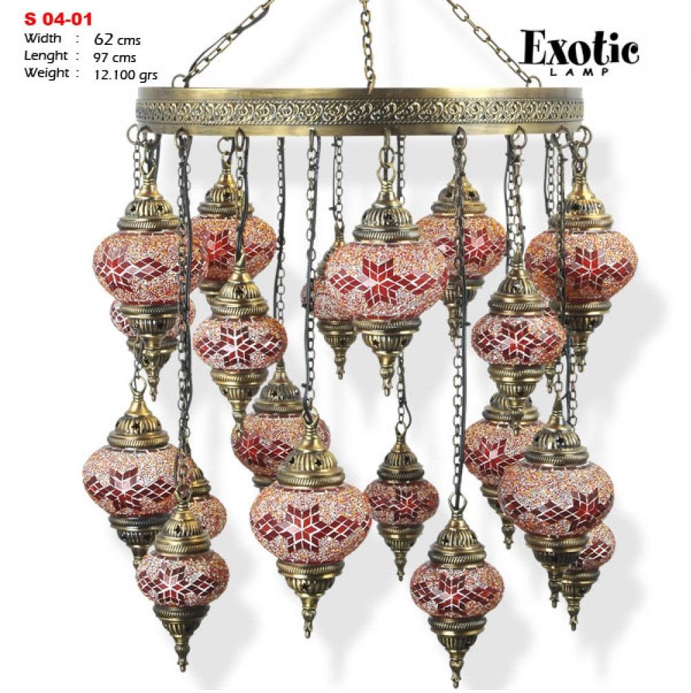 Люстра Exotic Selection S 04-01 красная