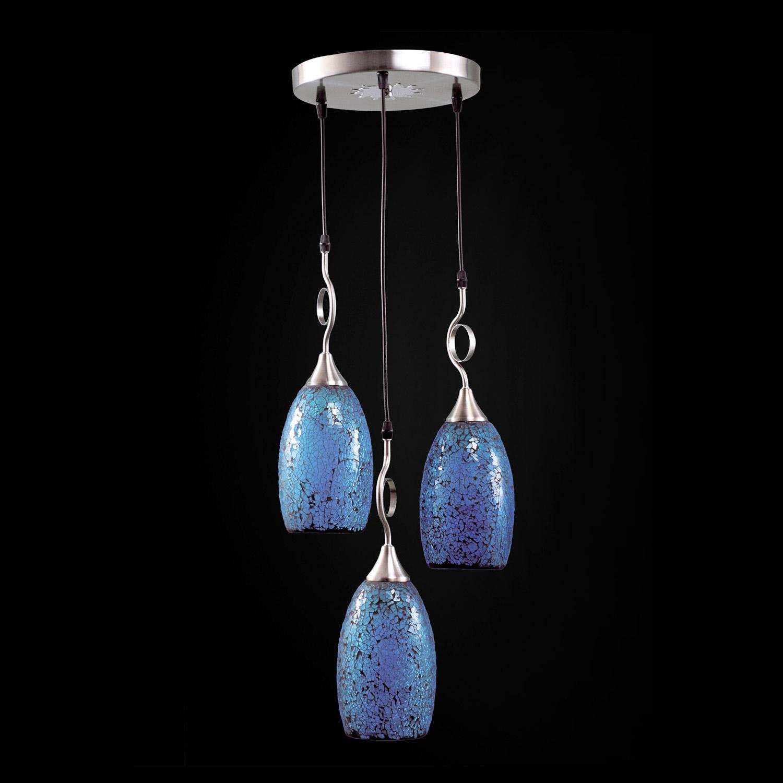 Люстра потолочная Exotic мозайка цвет синяя (S 01-07 СИНЯЯ)