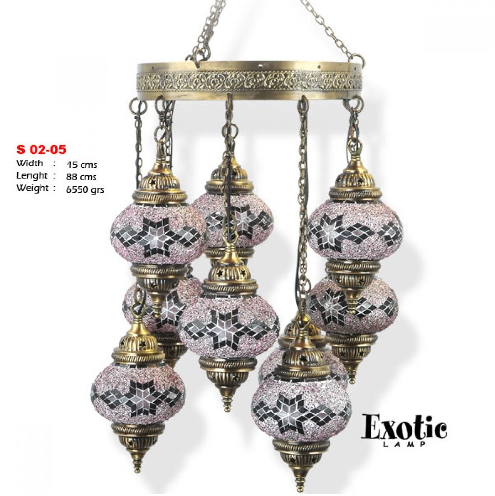 Люстра Exotic Selection S 02-05 лиловый