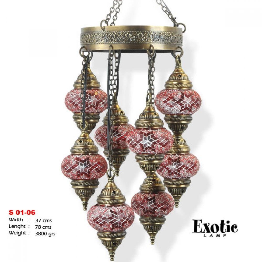 Люстра Exotic Selection S 01-06 красный