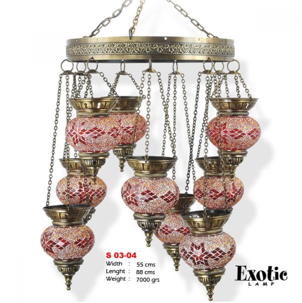 Люстра Exotic Selection S 03-04 красный