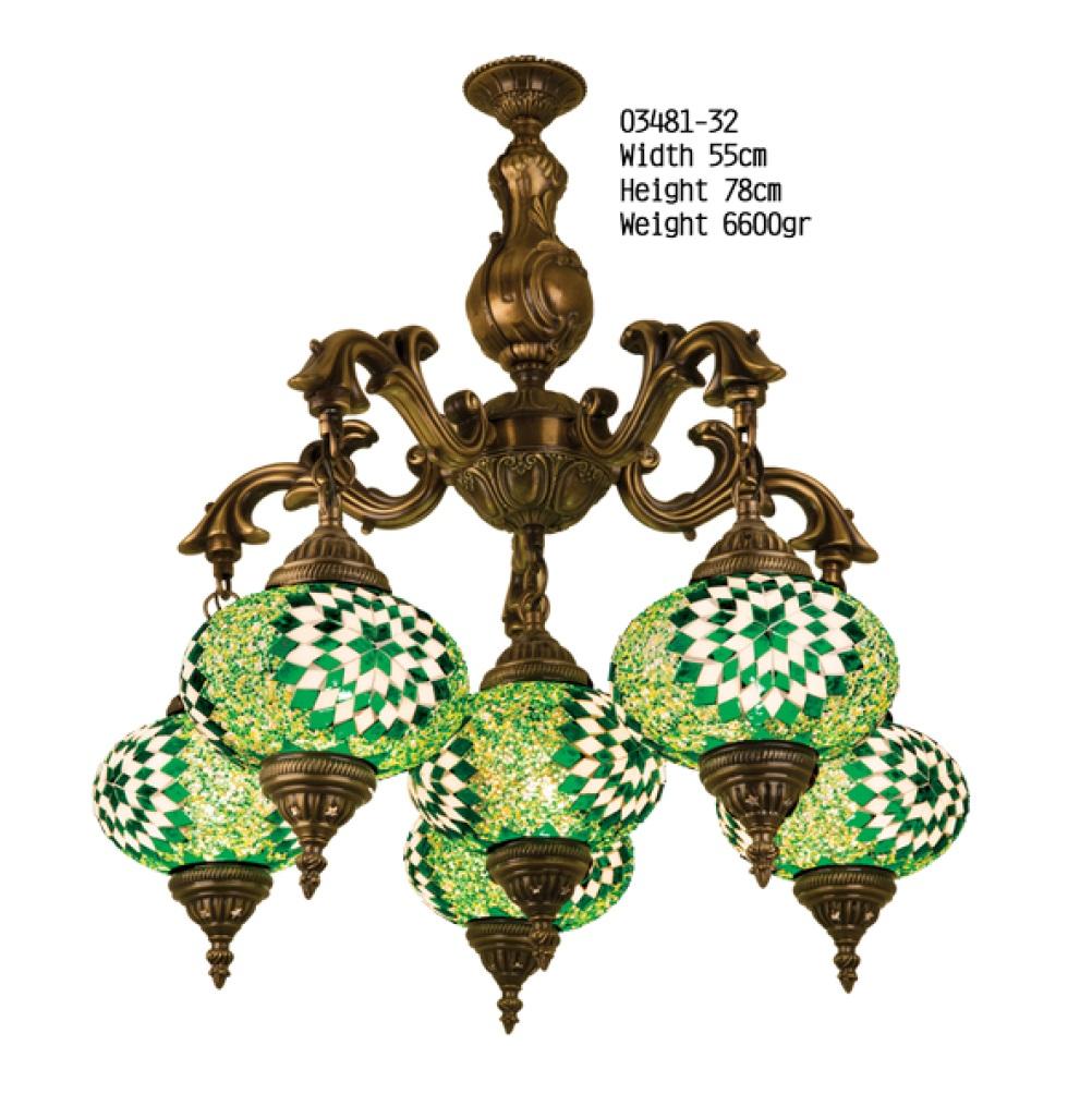 Люстра Exotic Selection 03481-32 зеленый