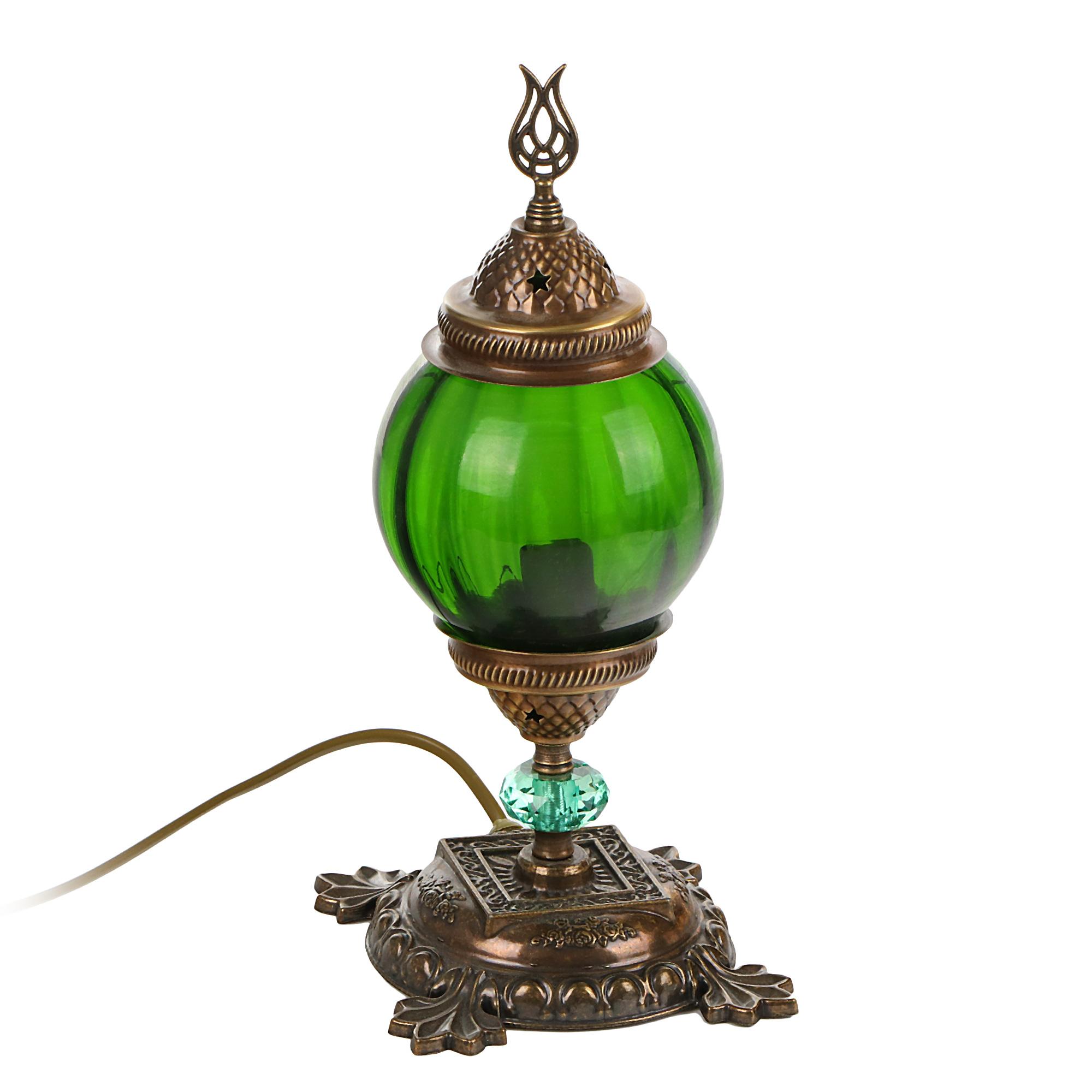 Лампа настольная Exotic мозайка зеленая