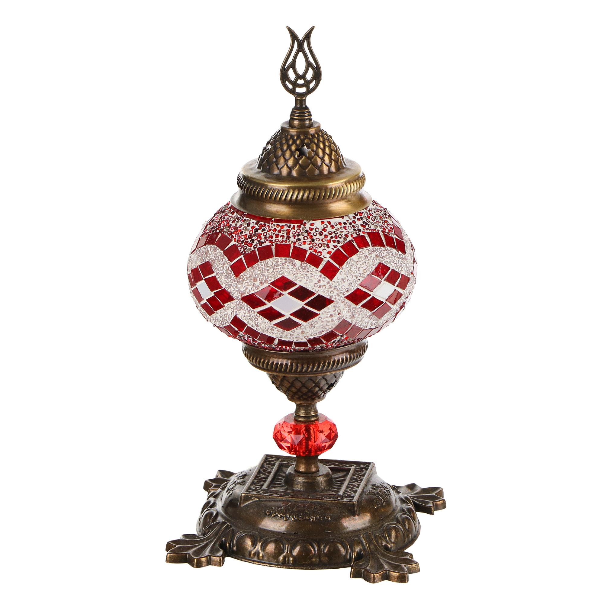 Лампа настольная Exotic мозайка красная