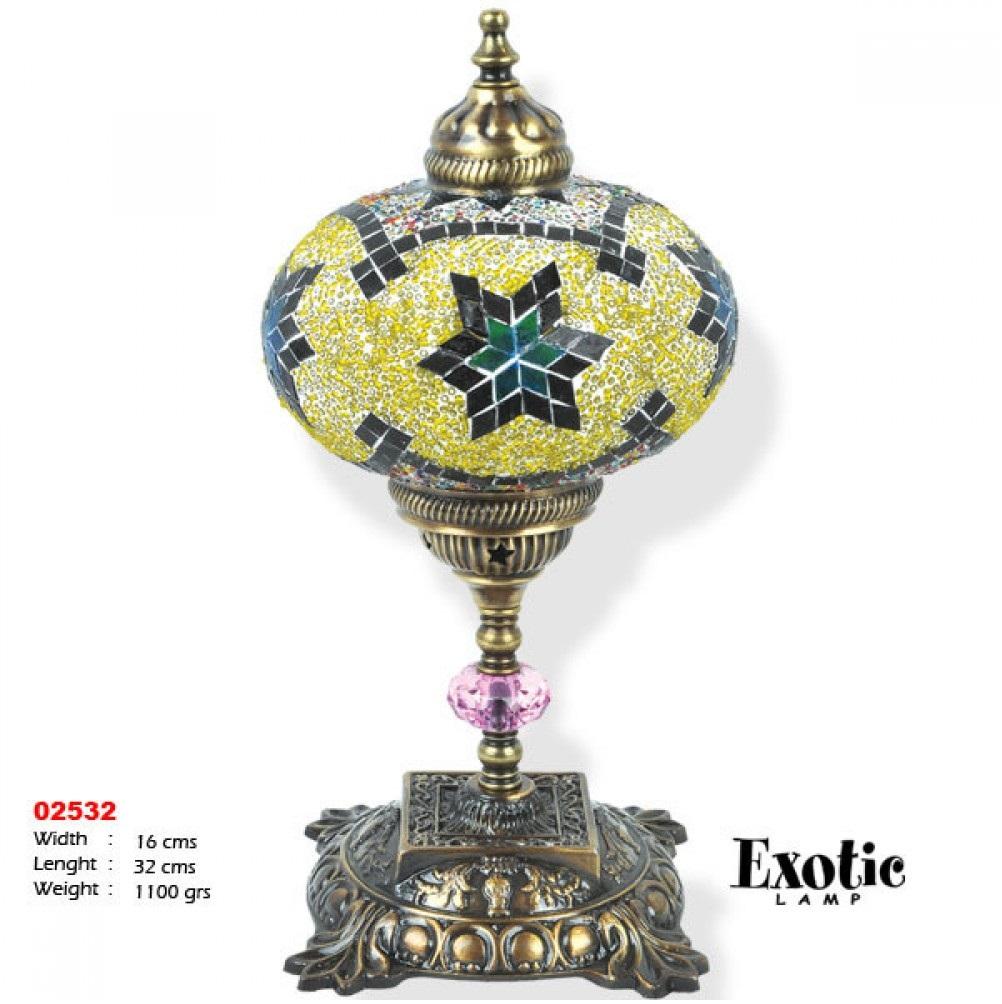 Лампа настольная Exotic мозайка 02532 зеленая