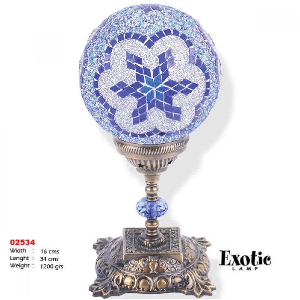 Лампа настольная Exotic мозайка 02534 синяя