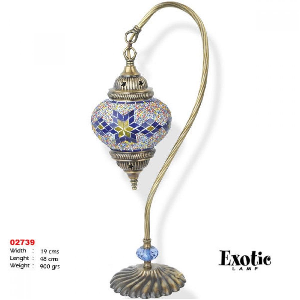 Лампа настольная Exotic мозайка 02739 синяя