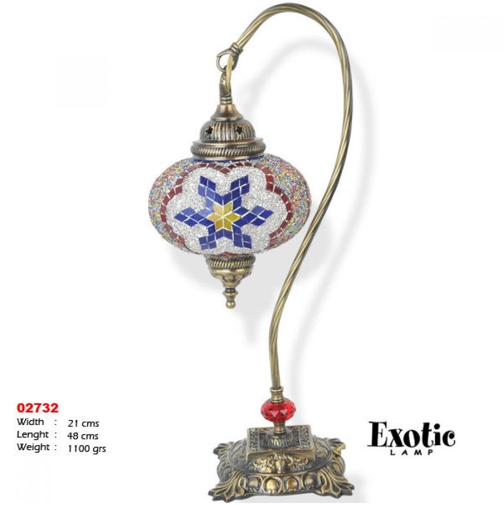 Лампа настольная Exotic мозайка 02732 красная