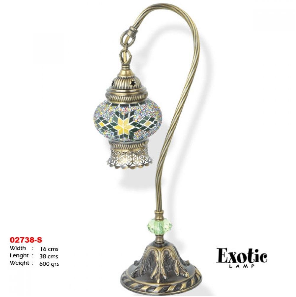 Лампа настольная Exotic мозайка 02738-s зеленая