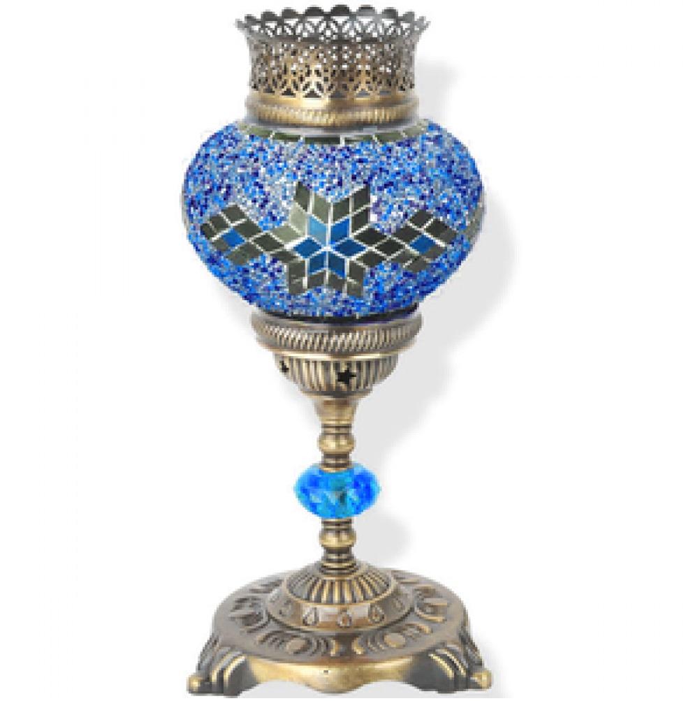 Лампа настольная Exotic мозайка 02539-s синяя