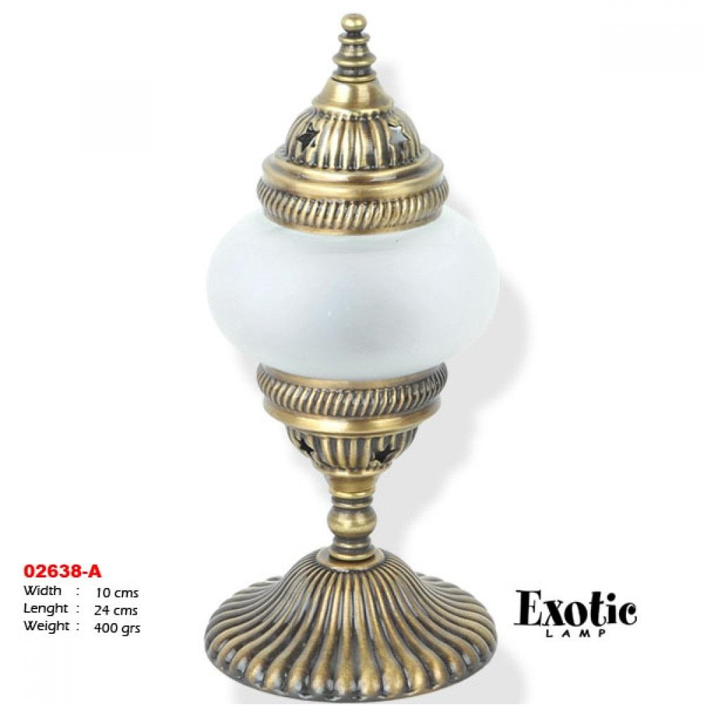 Лампа настольная Exotic мозайка 02638-a опальная