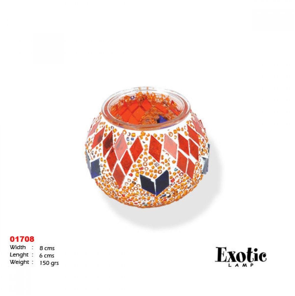 Подсвечники Exotic мозайка 01708 оранжевая