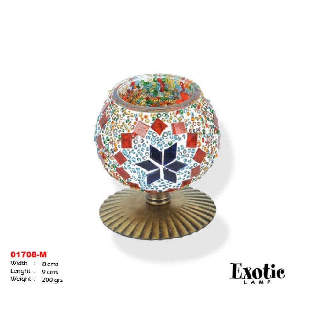 Подсвечники Exotic мозайка 01708-м красные