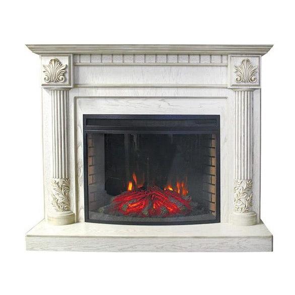 Портал Royal Flame Rodos белый дуб патина золото