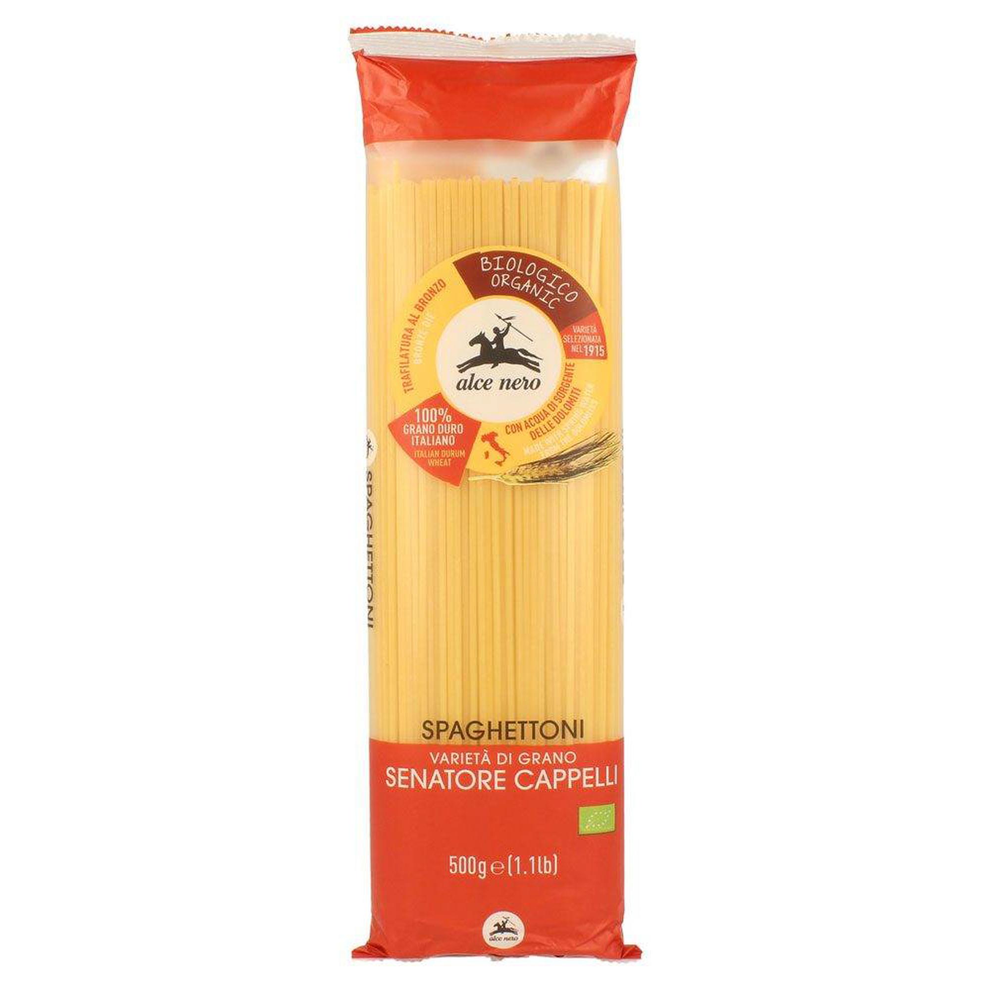шоколад alce nero горький плиточный 100 г Спагетти Alce Nero Spaghettoni из семолины (дурум) 500 г