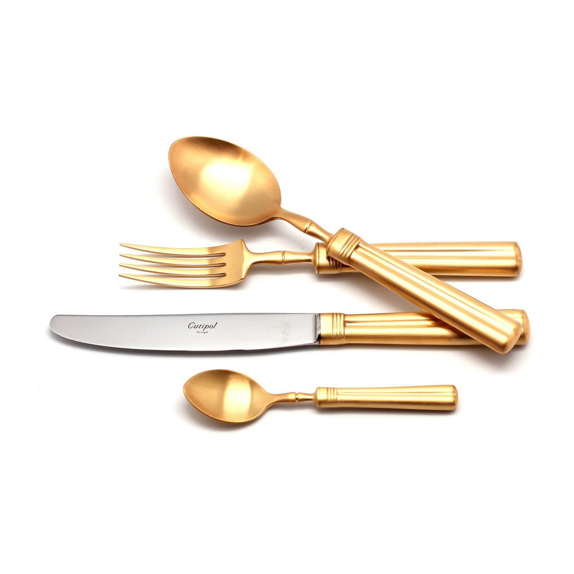 Столовый набор Cutipol FONTAINEBLEAU GOLD 9162 24 предмета матовый набор столовых приборов cutipol fontainebleau gold из 72 х предметов 9162 72