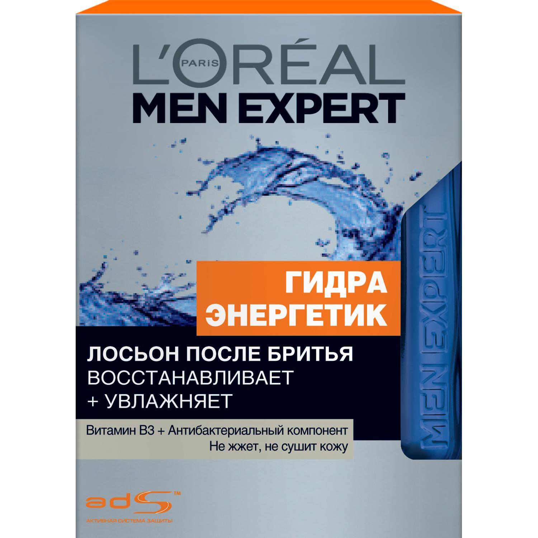 Лосьон после бритья Loreal Men Expert Гидра Энергетик Антибактериальный эффект (A7469700/6).