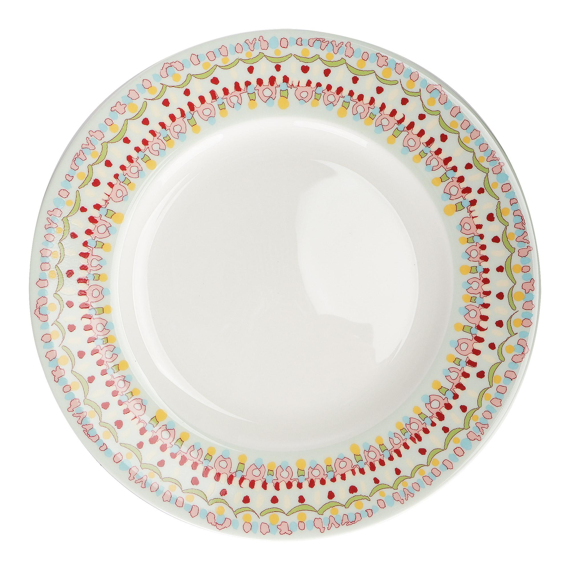 Набор тарелок Hankook Кашемир 27 см 6 шт фото