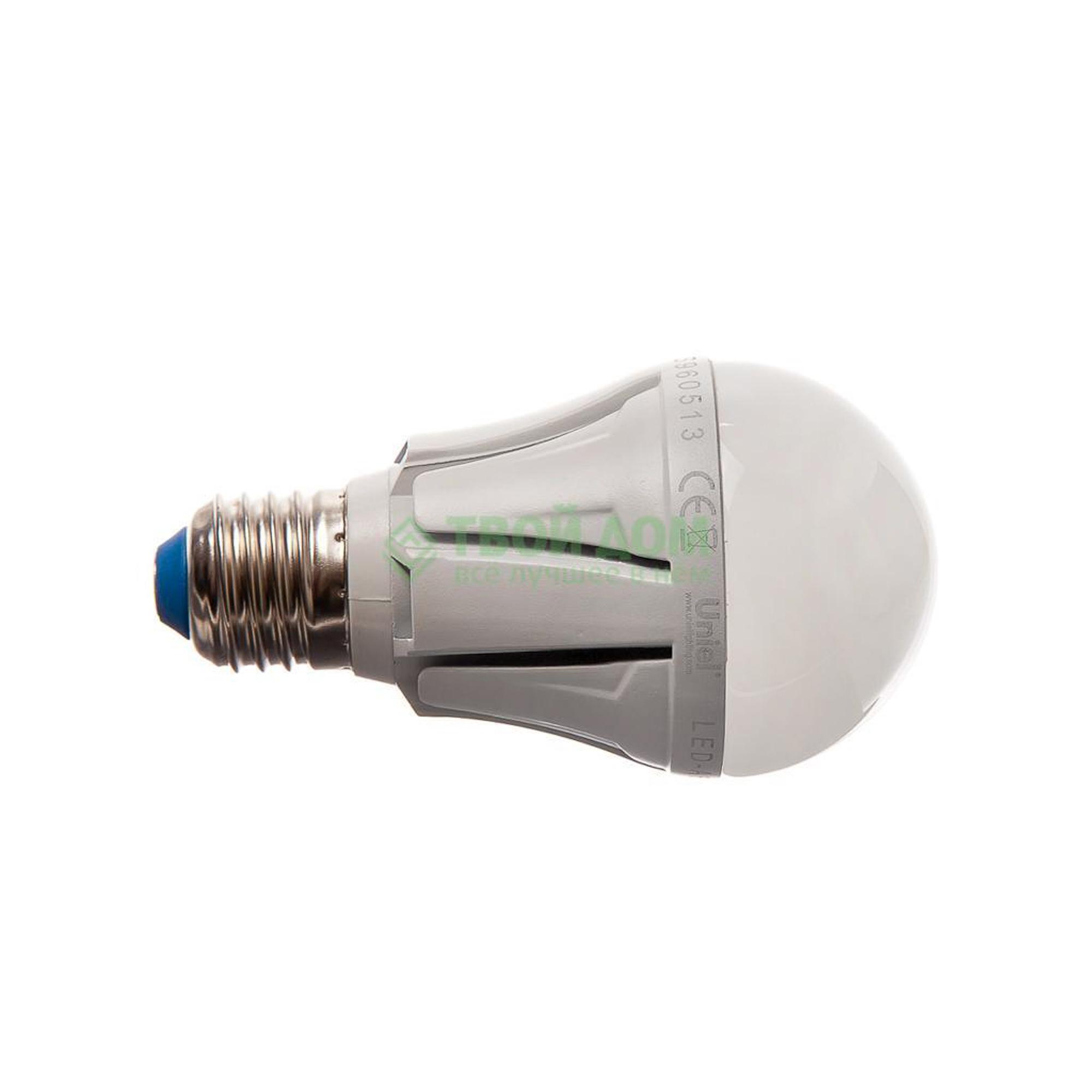 Фото - Лампочка Uniel LED-A60-9W/WW/E27/FR ALP01WH лампочка uniel led a60 9w nw e27 fr alm