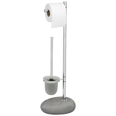 Гарнитур для туалета Wenko Pebble Stone гарнитур для туалета wenko sanitary brush samona