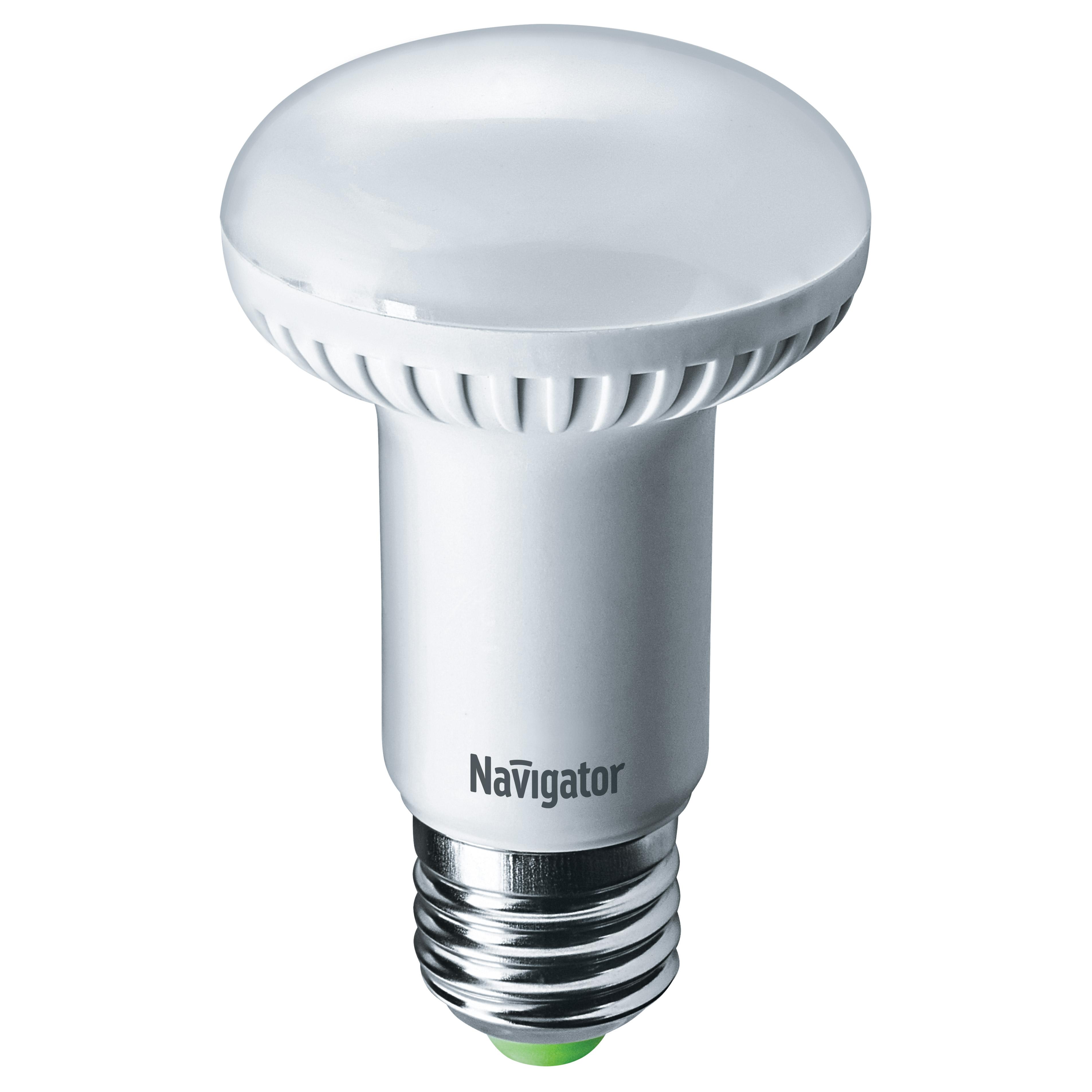 Фото - Лампа светодиодная Navigator зеркальная R63 8Вт цоколь E27 (холодный свет) лампа люминесцентная navigator t5 6вт цоколь g5 холодный свет
