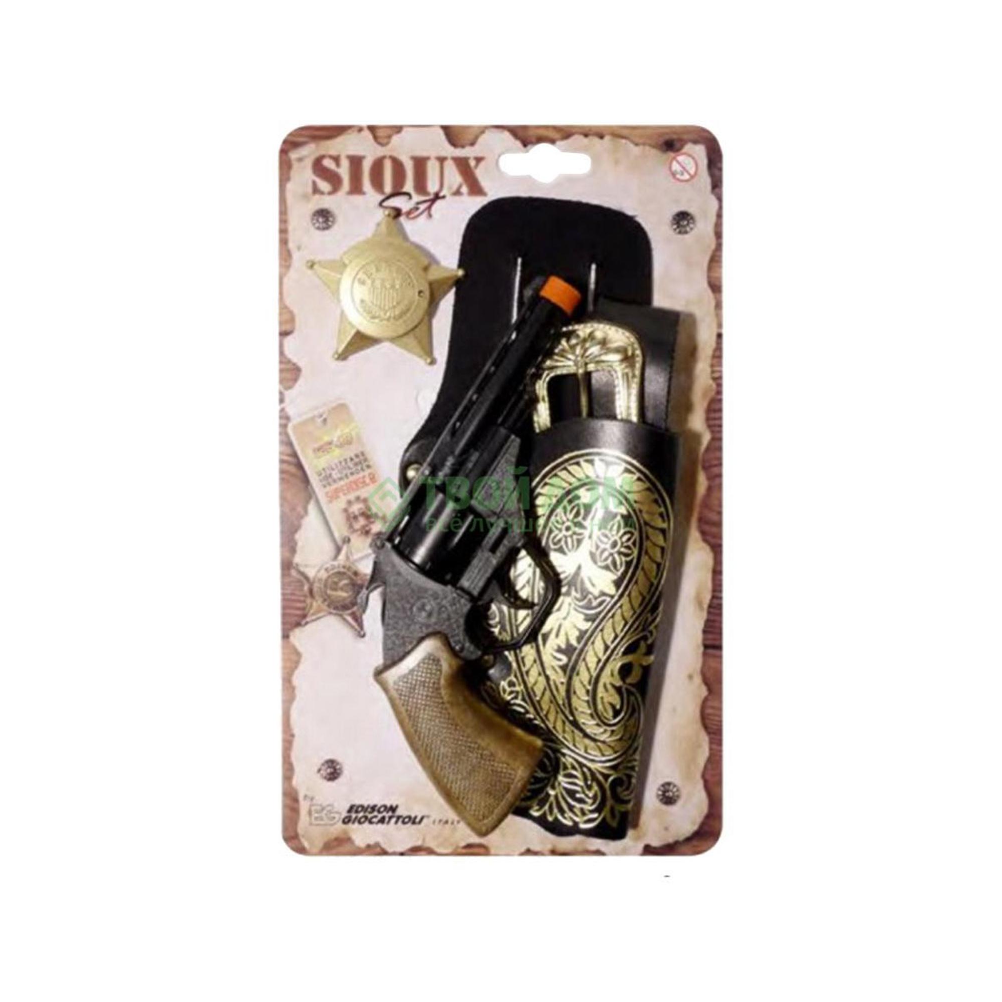 Пистолет Edison Набор sioux-set блистер 13-зарядный (0541/26) фото