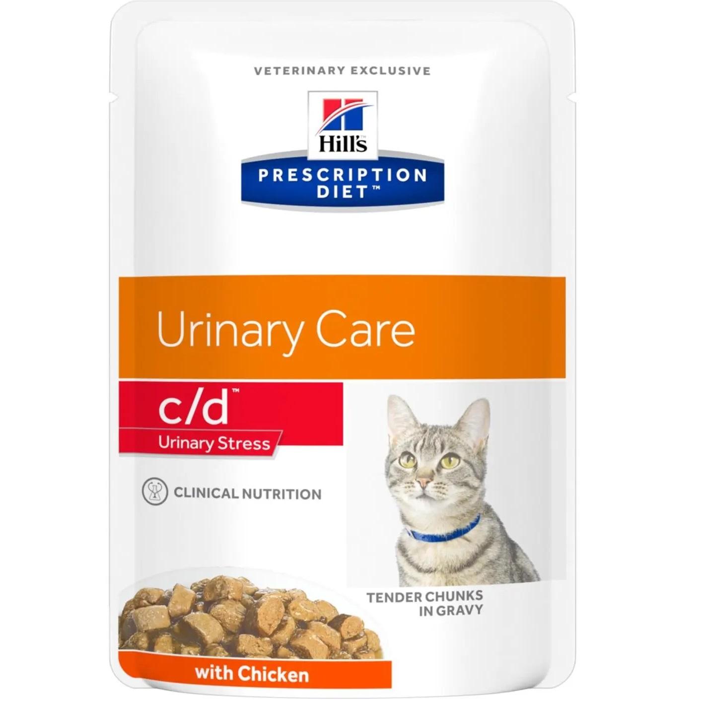 Корм для кошек Hills Prescription Diet Feline K/D при заболевании почек, курица 85 г