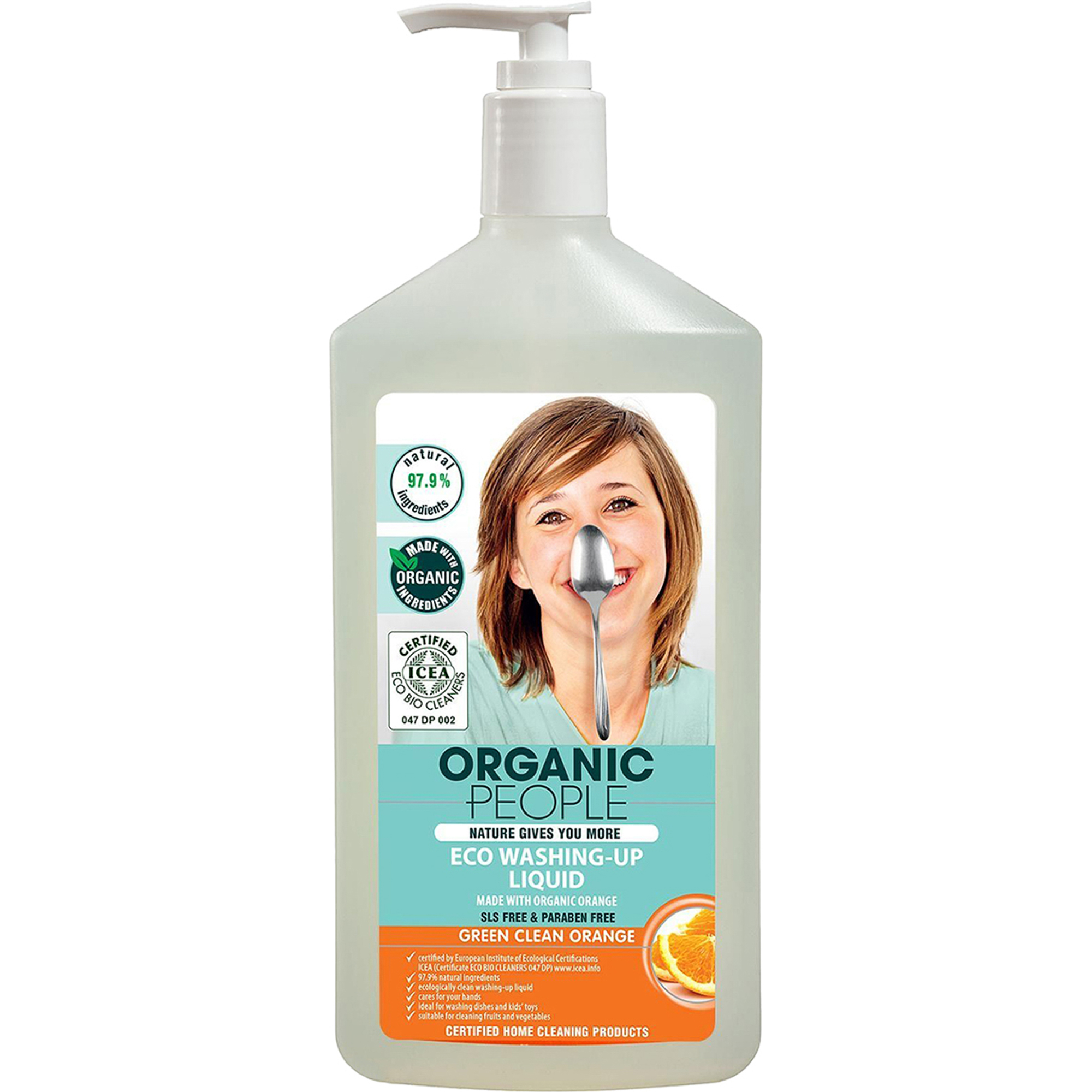Гель для мытья посуды Organic People Green clean orange 500 мл.