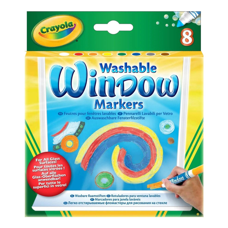 Маркеры для рисования на стекле Crayola смываемые 8 шт (58-8165).