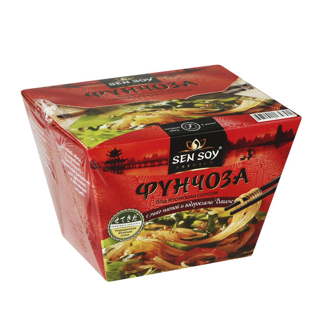 Фото - Вермишель Sen Soy Фунчоза под японским соусом 125 sen soy лапша пшеничная udon с соусом teryaki и кунжутом 275 г