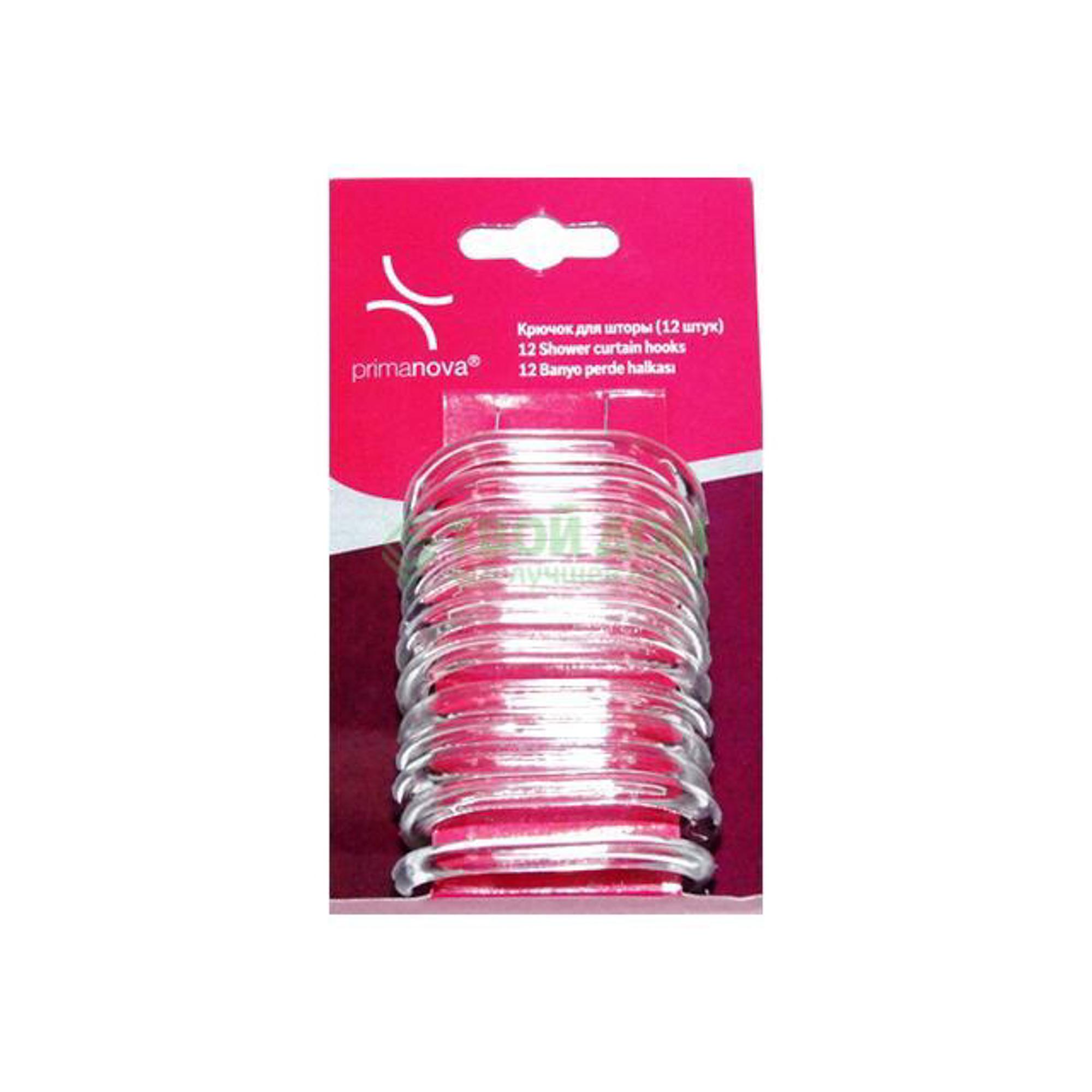 Купить Набор колец для штор Primanova M-05416, набор колец для штор, Турция, прозрачный, пластик