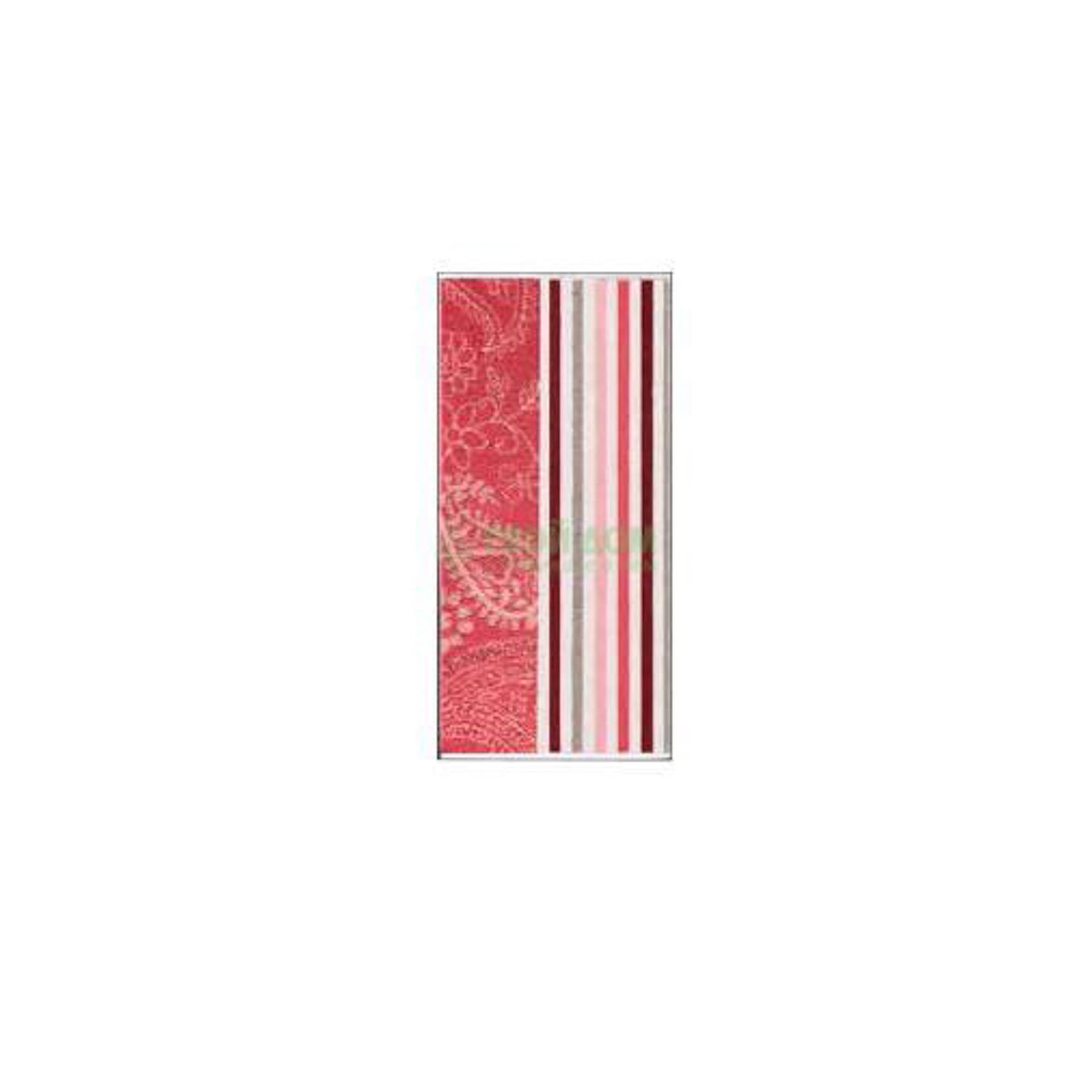 Полотенце Maisonette Paisley 50х100 см Red