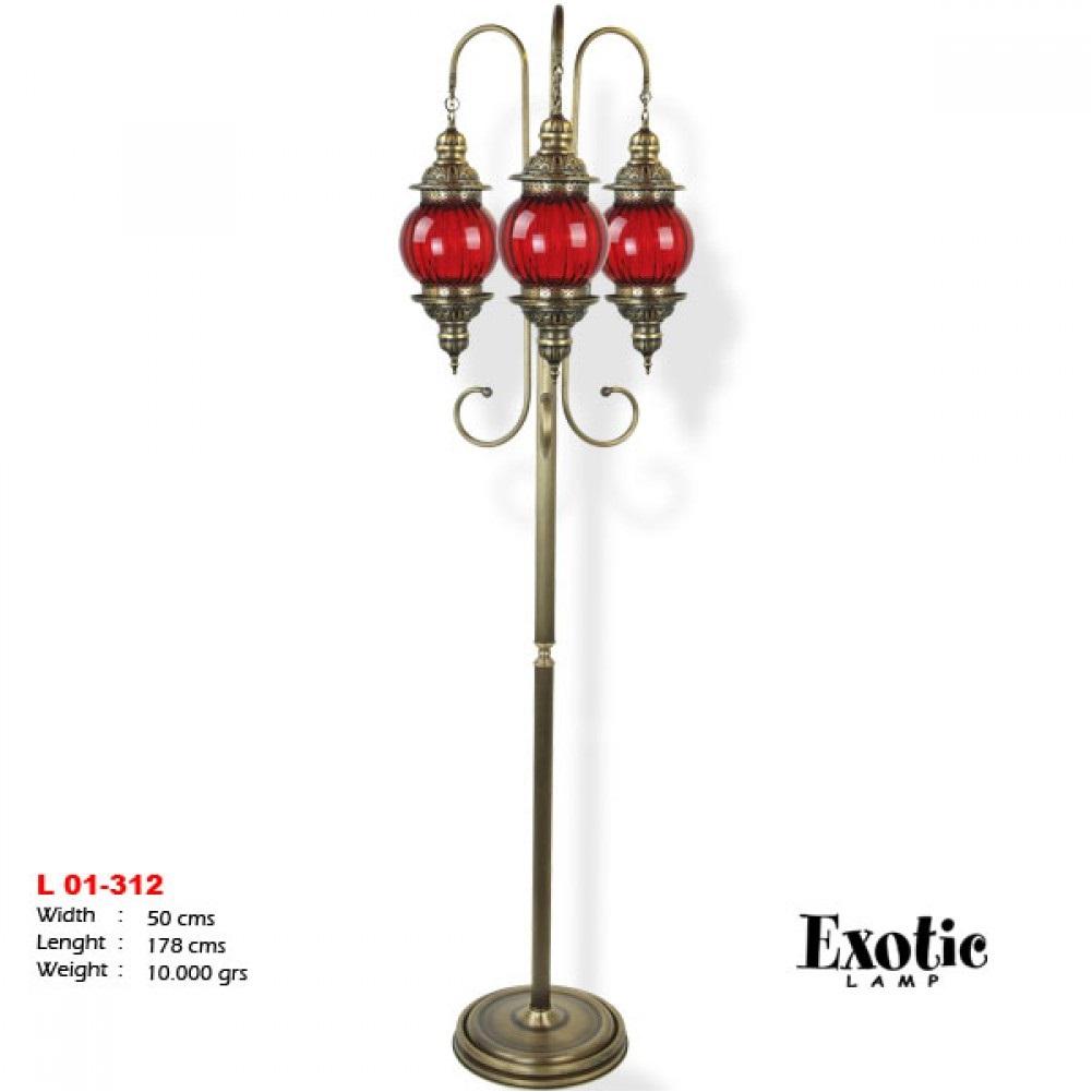 Торшер Exotic L-01-312 красный