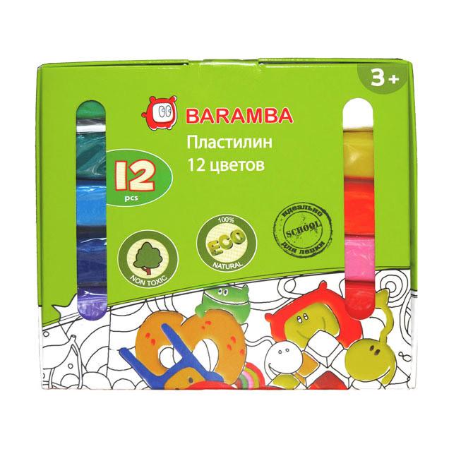 Набор для лепки Baramba Пластилин 12 шт. х 25 гр в карт. коробке (B30012) фото