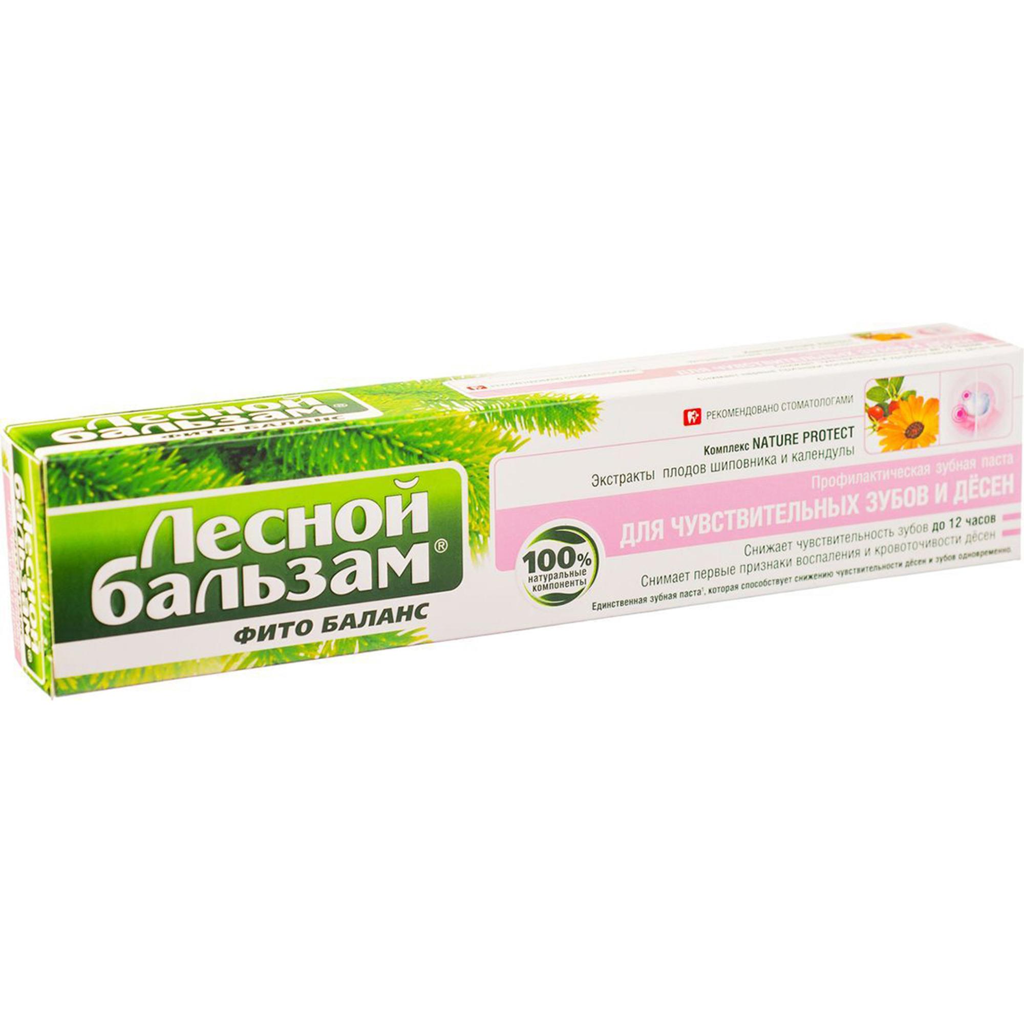 Зубная паста Лесной бальзам для чувствительных зубов и десен 75 мл.